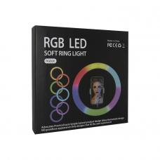 Светодиодная кольцевая лампа RGB-26 (цветные)